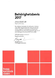 Behörig BKR 2017 (Arturs Kakel)