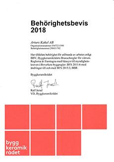 Behörig BKR 2018 (Arturs Kakel)