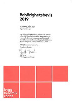 Behörig BKR 2019 (Arturs Kakel)