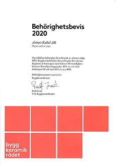 Behörig BKR 2020 (Arturs Kakel)